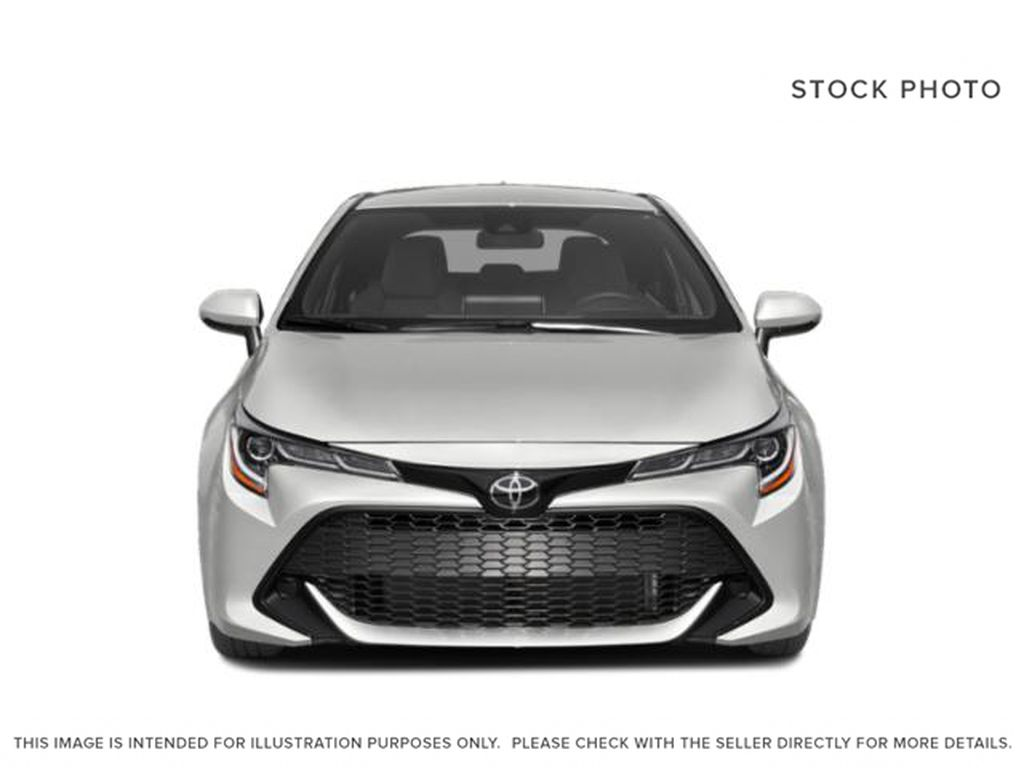 Red[Supersonic Red  w/Black Roof] 2021 Toyota Corolla Hatchback Front Vehicle Photo in Kelowna BC