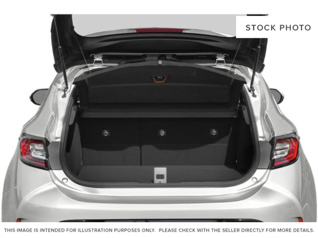 Red[Supersonic Red  w/Black Roof] 2021 Toyota Corolla Hatchback Trunk / Cargo Area Photo in Kelowna BC