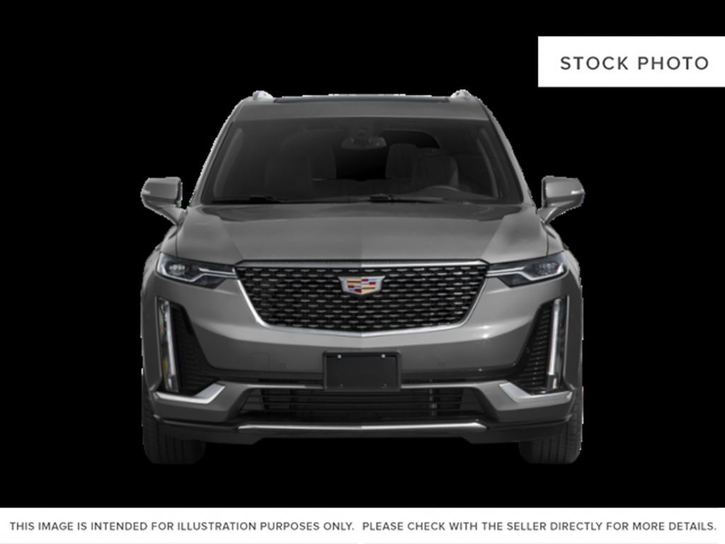 White[Crystal White Tricoat] 2021 Cadillac XT6 Sport Front Vehicle Photo in Calgary AB