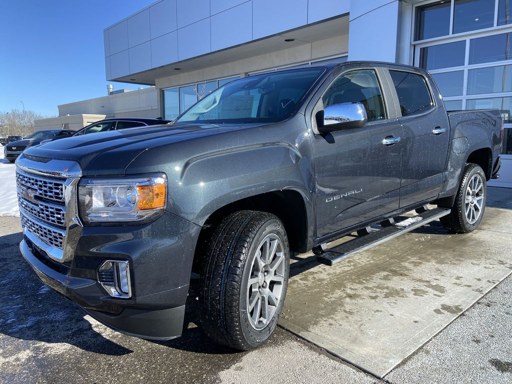 Green[Hunter Metallic] 2021 GMC Canyon Denali Left Front Head Light / Bumper and Grill in Calgary AB