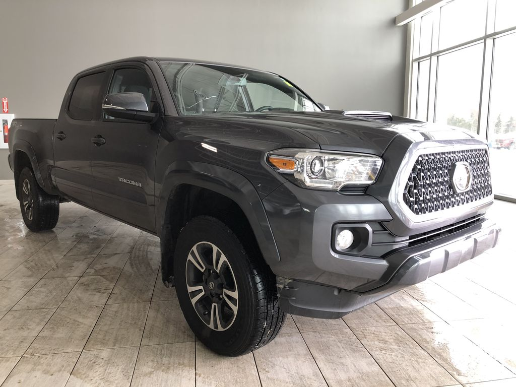 Grey 2019 Toyota Tacoma TRD Sport | Extended Warranty Included Left Front Interior Photo in Edmonton AB