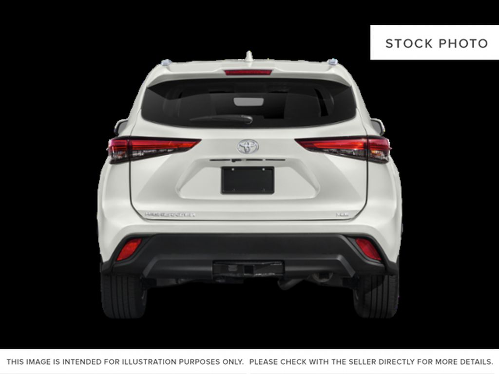 Black[Midnight Black Metallic] 2021 Toyota Highlander Rear of Vehicle Photo in Beverly Hills NU