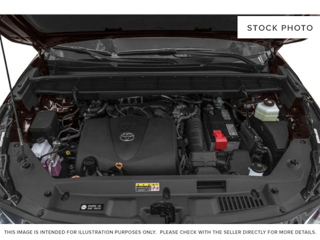 Black[Midnight Black Metallic] 2021 Toyota Highlander Engine Compartment Photo in Beverly Hills NU