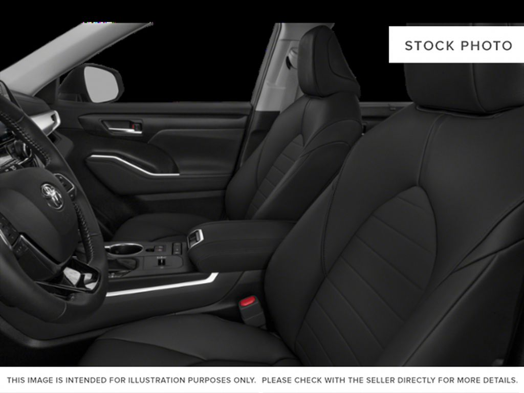 Black[Midnight Black Metallic] 2021 Toyota Highlander Left Front Interior Photo in Beverly Hills NU