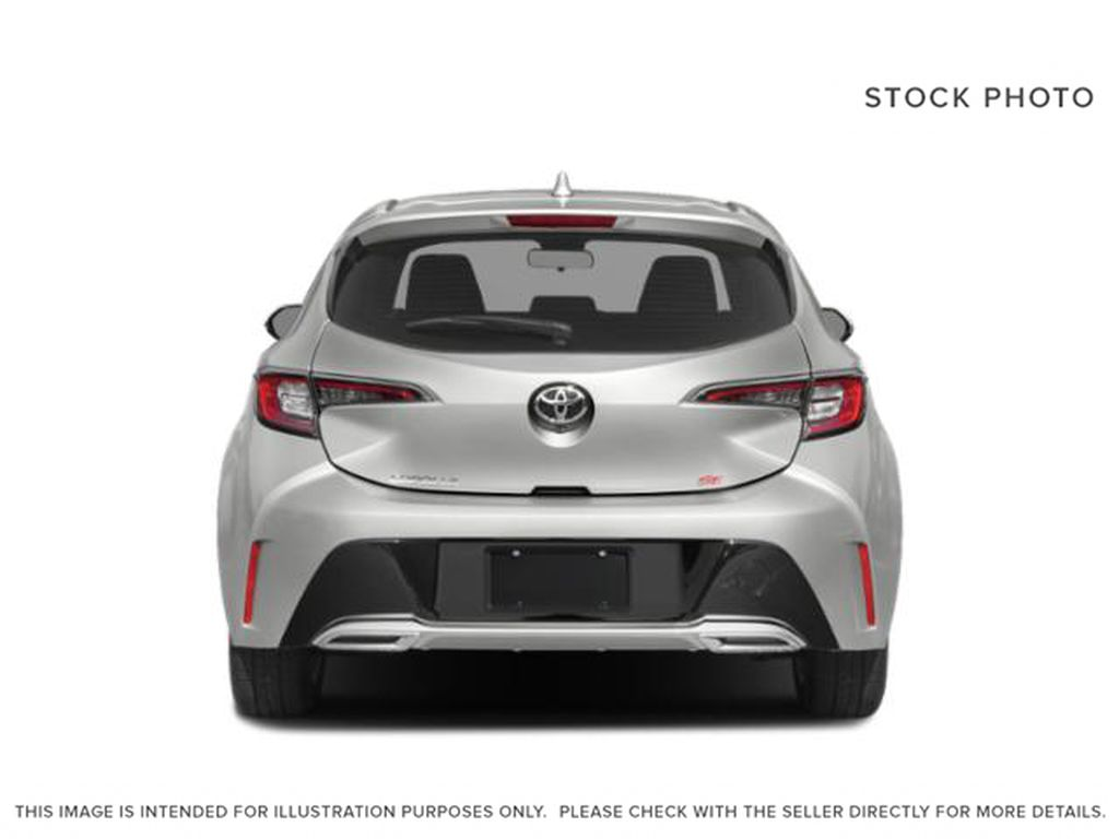 White[Wind Chill Pearl] 2021 Toyota Corolla Hatchback Rear of Vehicle Photo in Beverly Hills NU