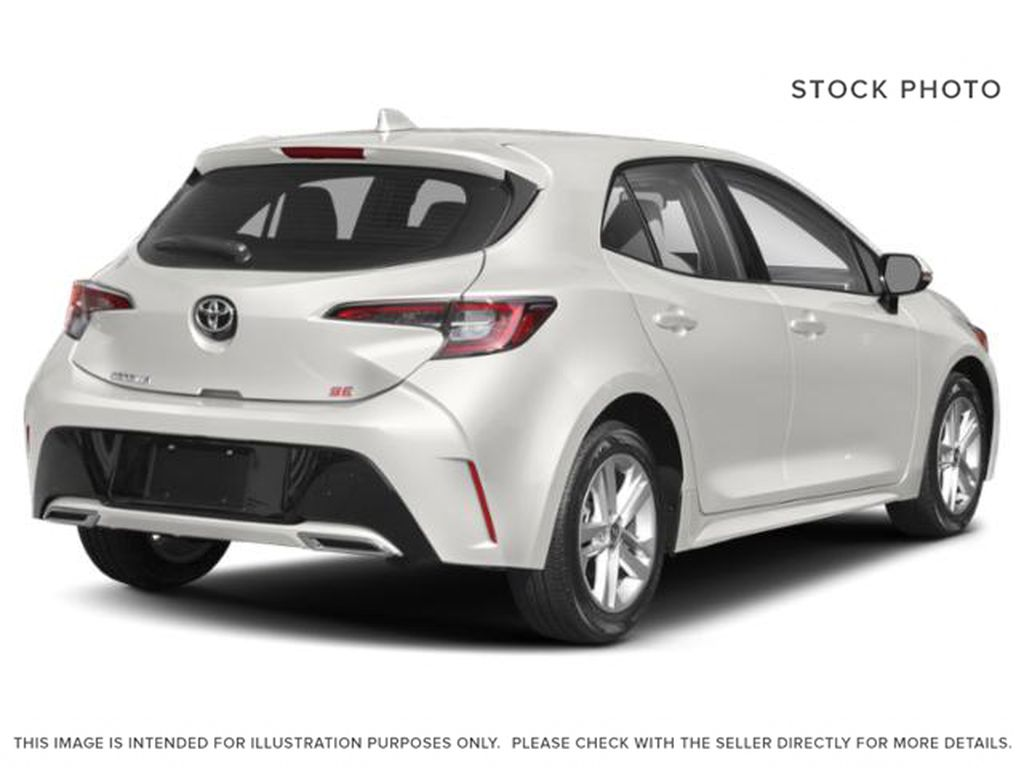 White[Wind Chill Pearl] 2021 Toyota Corolla Hatchback Right Rear Corner Photo in Beverly Hills NU