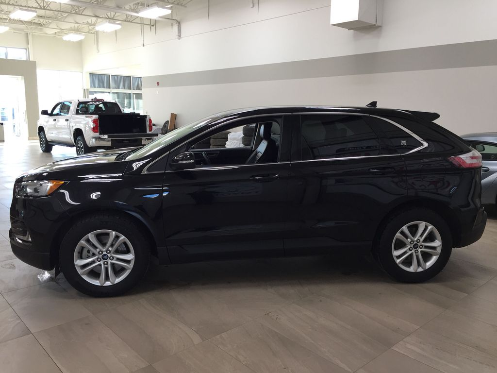 Black[Agate Black] 2019 Ford Edge SEL / LEATHER PANORAMIC SUNROOF Left Side Photo in Sherwood Park AB