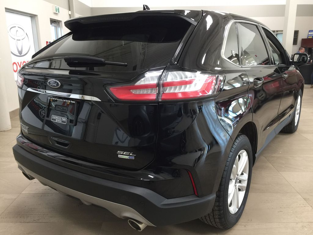 Black[Agate Black] 2019 Ford Edge SEL / LEATHER PANORAMIC SUNROOF Right Rear Corner Photo in Sherwood Park AB