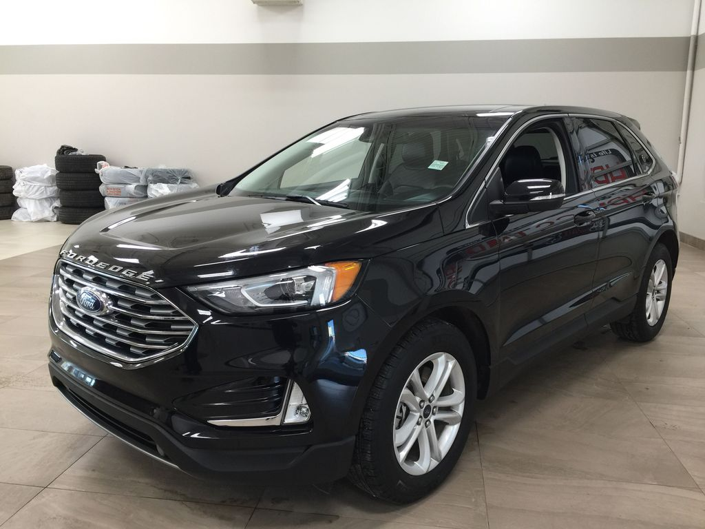 Black[Agate Black] 2019 Ford Edge SEL / LEATHER PANORAMIC SUNROOF Left Front Corner Photo in Sherwood Park AB