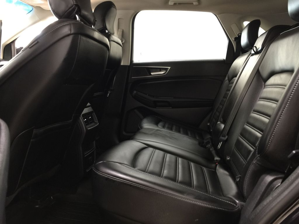 Black[Agate Black] 2019 Ford Edge SEL / LEATHER PANORAMIC SUNROOF Left Side Rear Seat  Photo in Sherwood Park AB