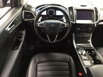 Black[Agate Black] 2019 Ford Edge SEL / LEATHER PANORAMIC SUNROOF Left Front Seat Photo in Sherwood Park AB