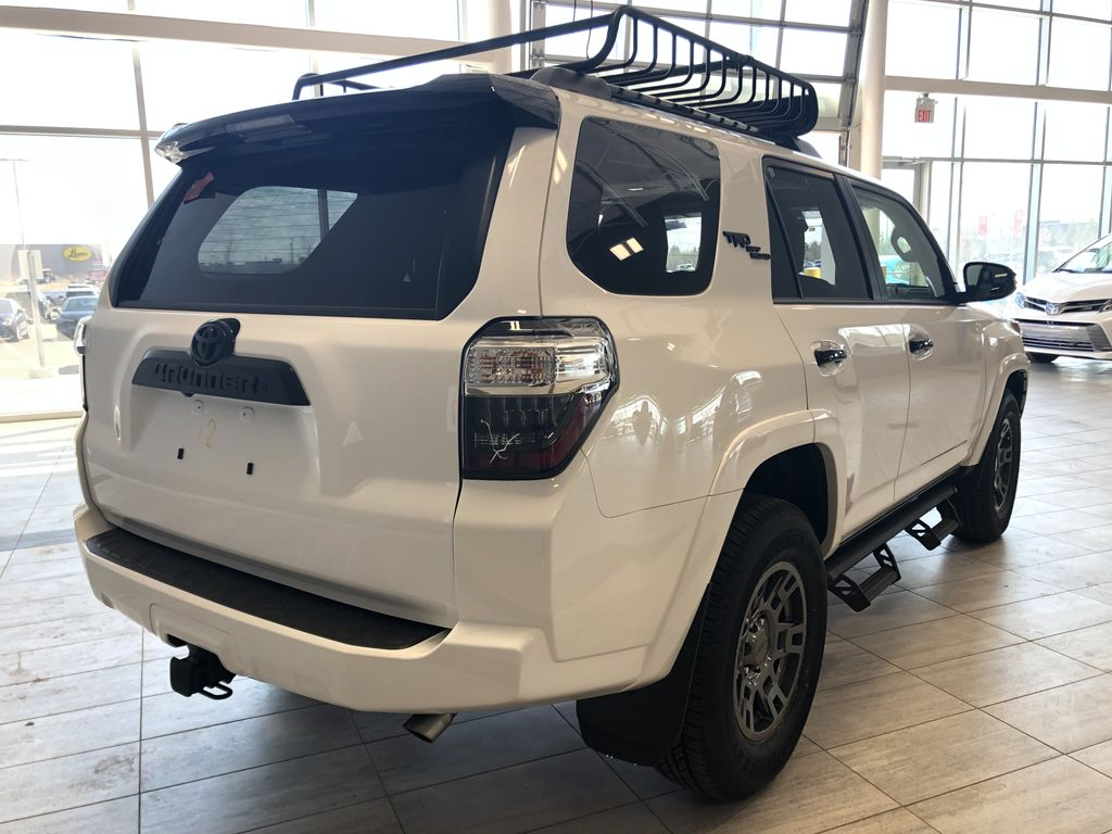 Super White 2021 Toyota 4Runner Venture Rear of Vehicle Photo in Edmonton AB