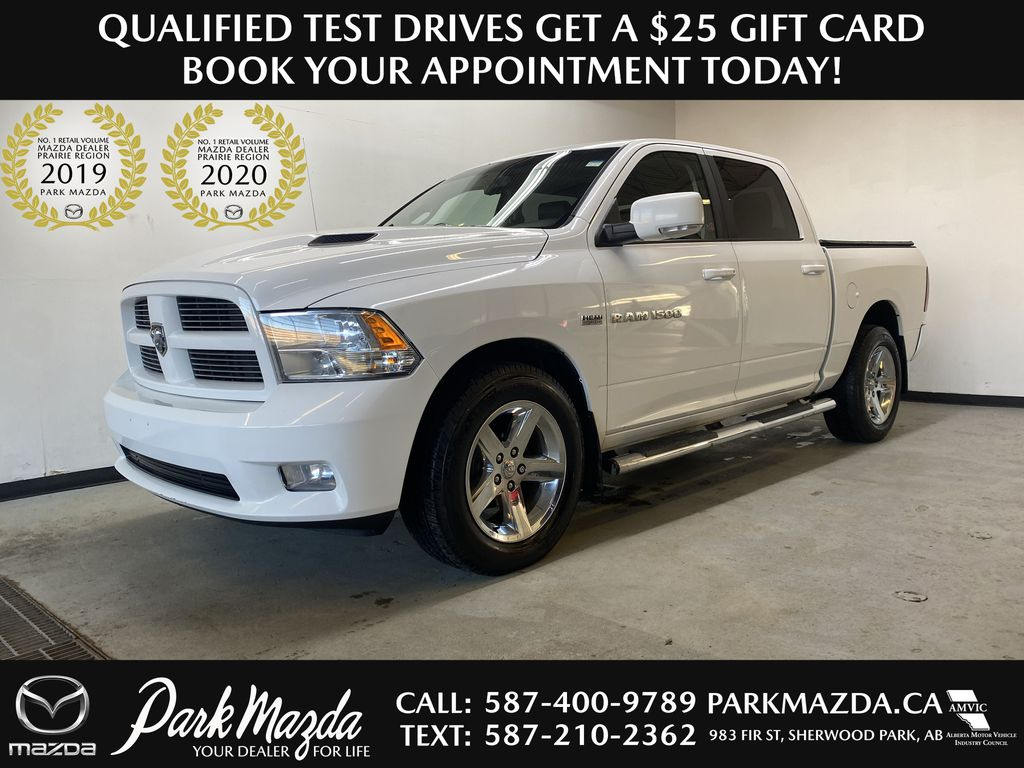 WHTIE 2011 Ram 1500 Sport - Heated/Cooled Font Seats, Power Front Seats