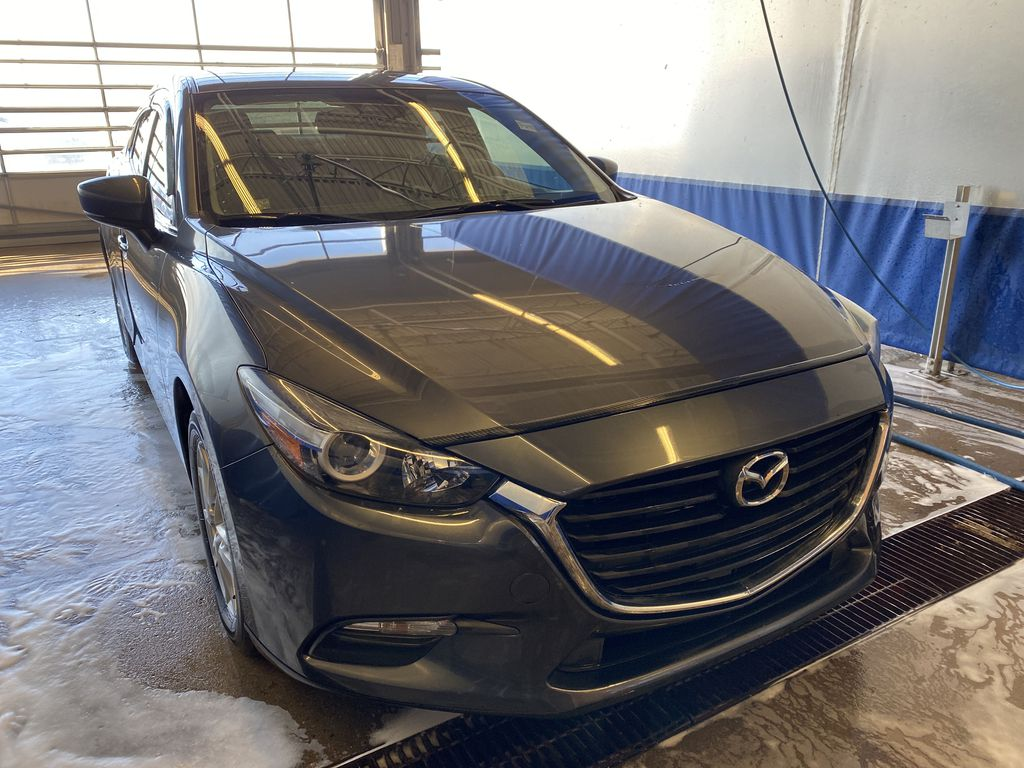 GREY 2018 Mazda Mazda3 GS - Left Front Corner Photo in Edmonton AB
