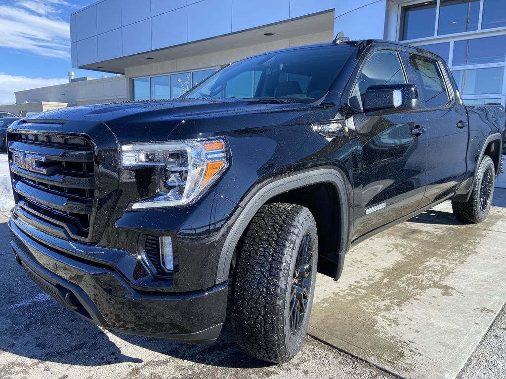 Black[Onyx Black] 2021 GMC Sierra 1500 Elevation Left Front Head Light / Bumper and Grill in Calgary AB