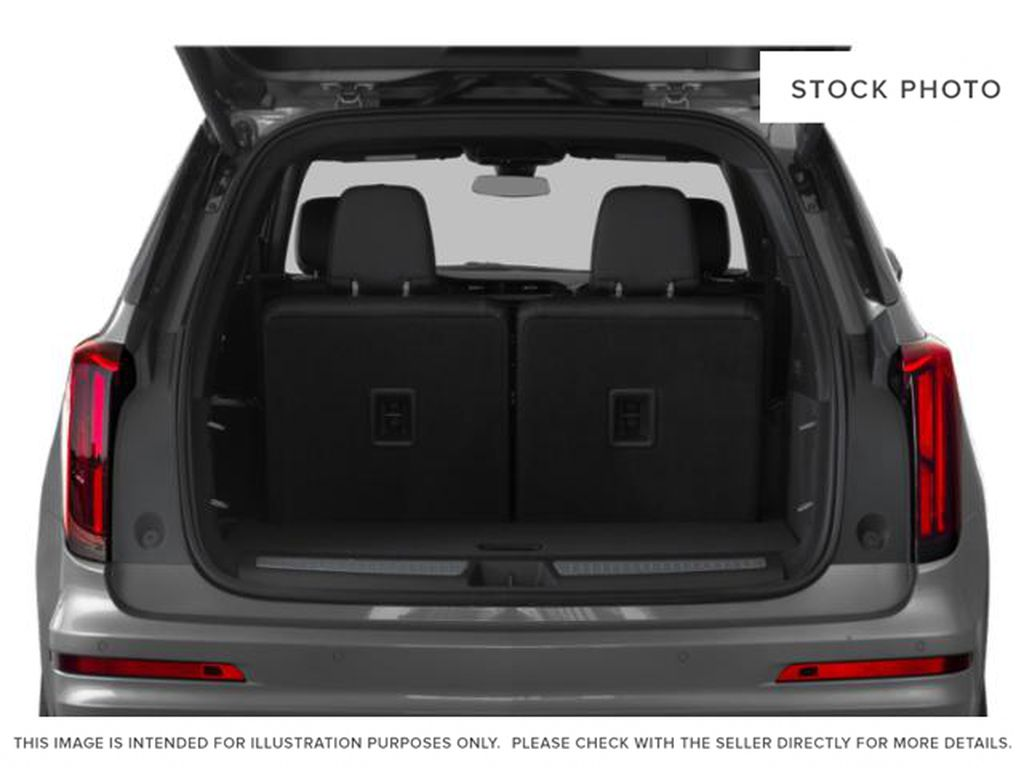 White[Crystal White Tricoat] 2021 Cadillac XT6 Sport Trunk / Cargo Area Photo in Calgary AB