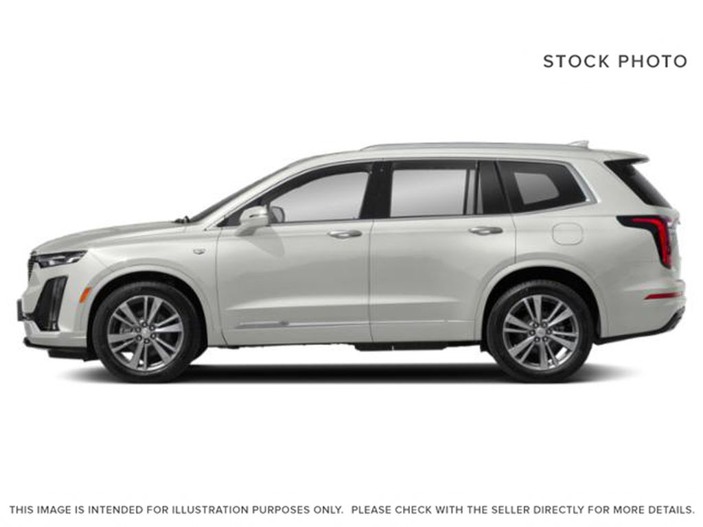 White[Crystal White Tricoat] 2021 Cadillac XT6 Sport Left Side Photo in Calgary AB