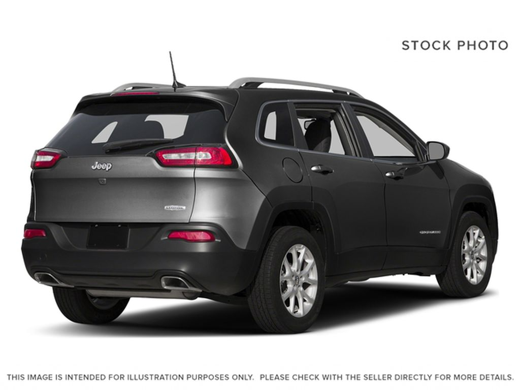 Black[Brilliant Black Crystal Pearl] 2016 Jeep Cherokee Right Rear Corner Photo in Edmonton AB