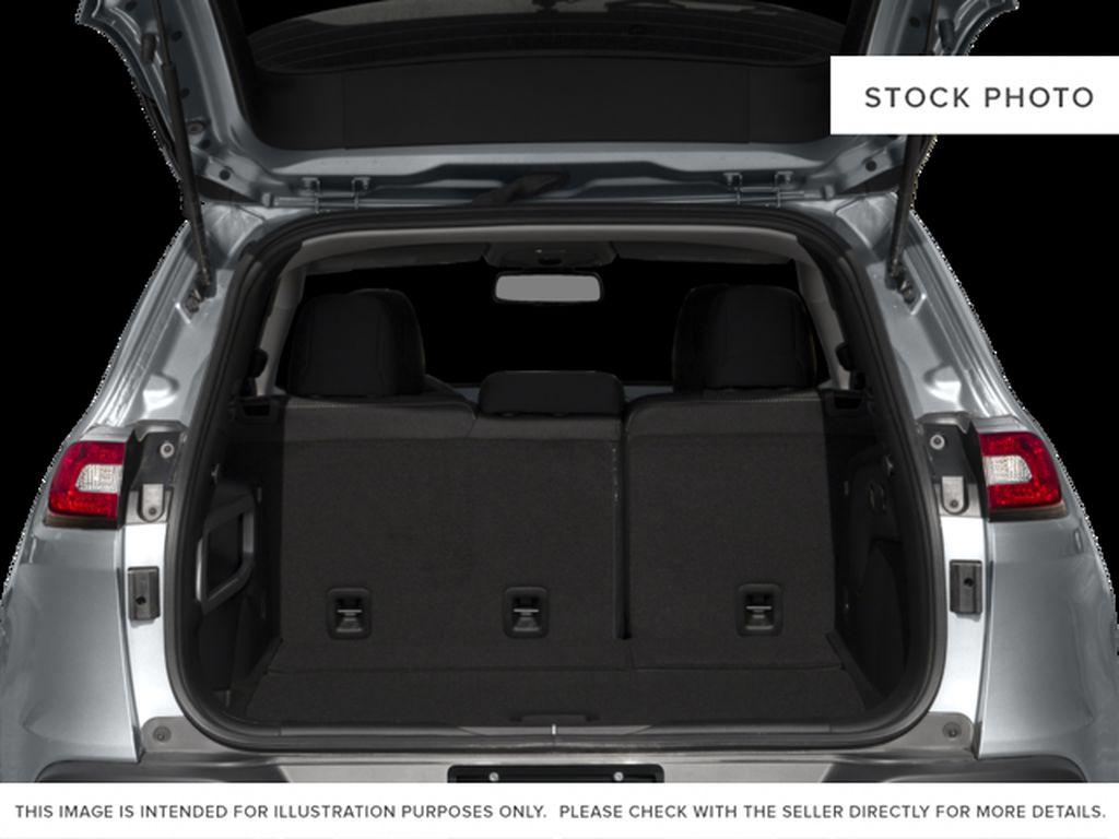 Black[Brilliant Black Crystal Pearl] 2016 Jeep Cherokee Trunk / Cargo Area Photo in Edmonton AB