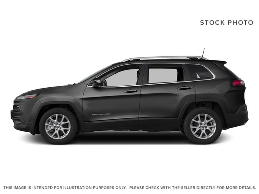 Black[Brilliant Black Crystal Pearl] 2016 Jeep Cherokee Left Side Photo in Edmonton AB