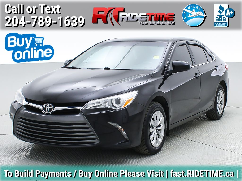 Black[Midnight Black Metallic] 2016 Toyota Camry LE - Backup Camera, Bluetooth, Clean CarFax