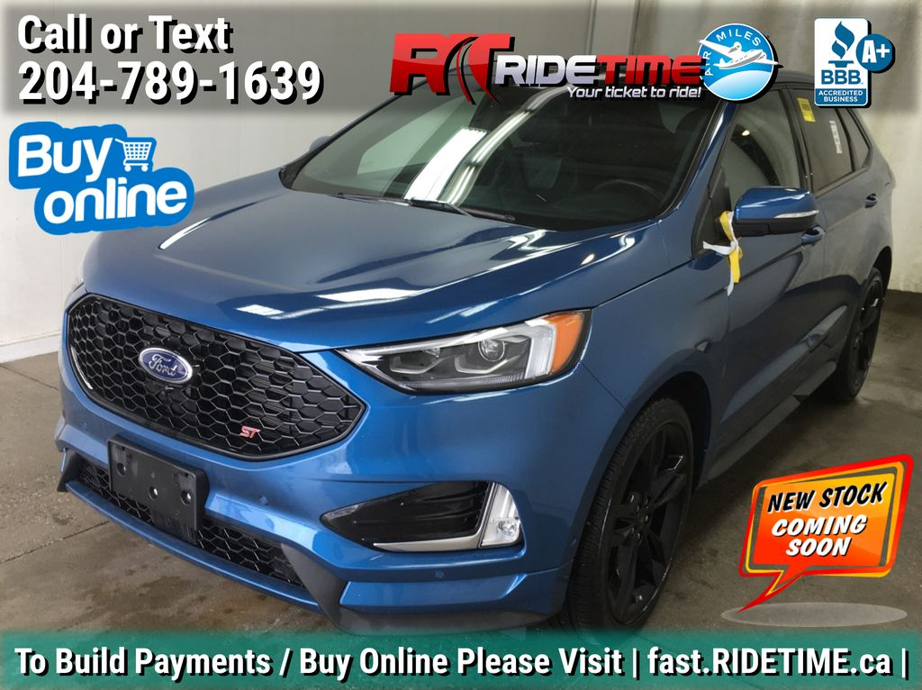 Blue[Ford Performance Blue] 2019 Ford Edge ST AWD - Backup Camera, Panoramic Roof, Navigation