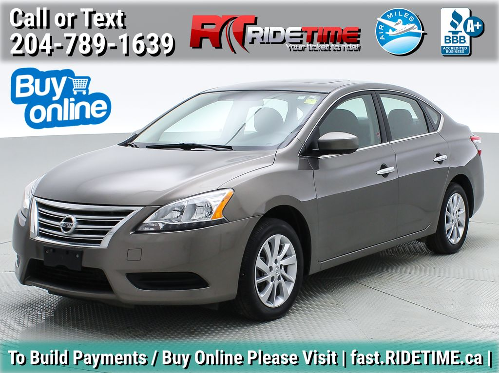 Gray[Amethyst Grey Pearl Metallic] 2015 Nissan Sentra SV - AUTO, Sunroof, Navigation, SUPER LOW KMs
