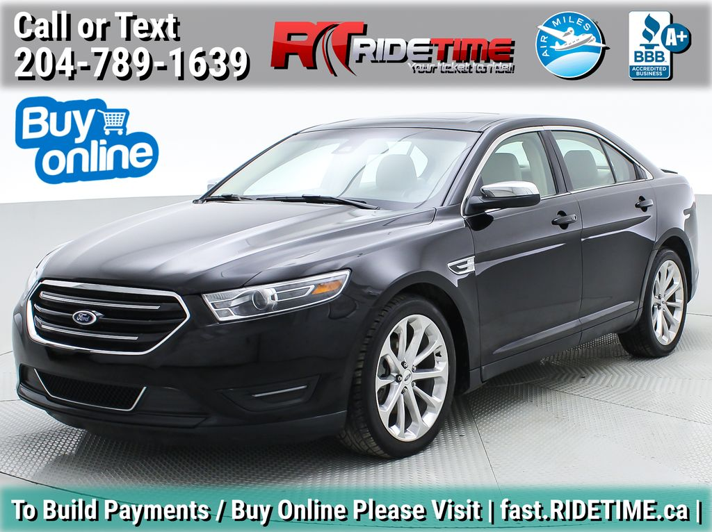 Black[Shadow Black] 2016 Ford Taurus Limited AWD - Leather, Sunroof, Navigation