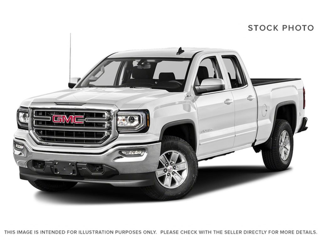 White[Summit White] 2018 GMC Sierra 1500 SLE Double cab Lowered w/ Leather