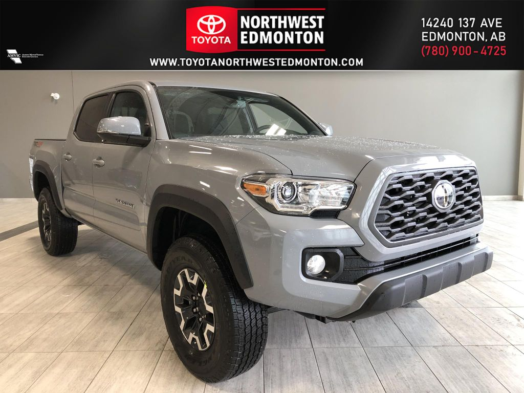 Cement Grey Metallic 2021 Toyota Tacoma 4WD Double Cab TRD Off Road (Short Box)