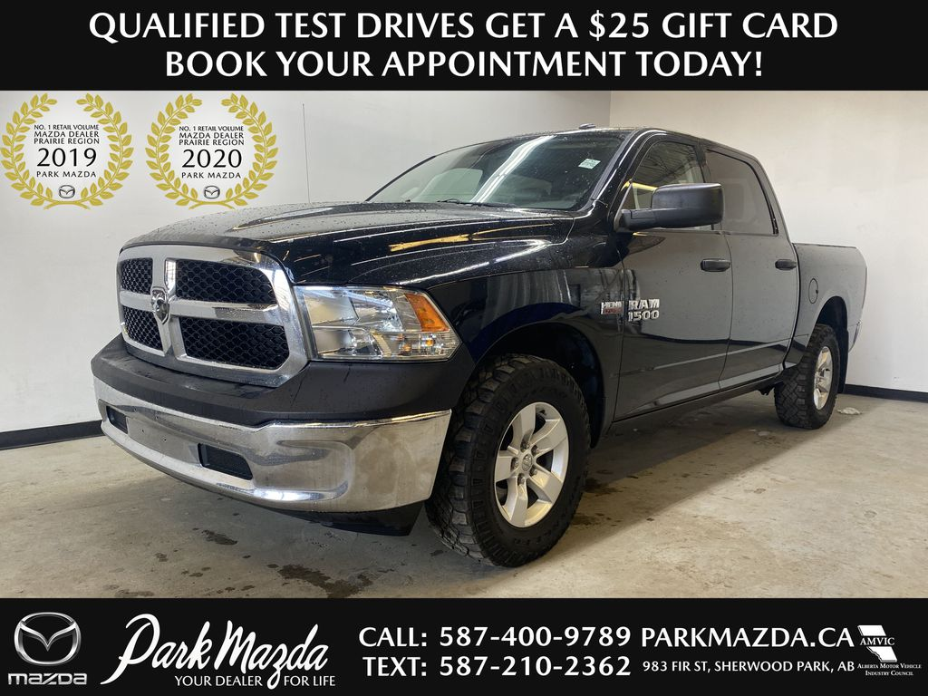 BLACK 2015 Ram 1500 ST - Remote Start, Cruise Control, Air Conditioning