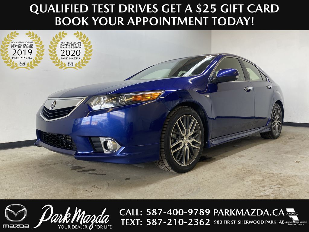 BLUE 2013 Acura TSX A-Spec - Power Seats, Heated Front Seats, Bluetooth
