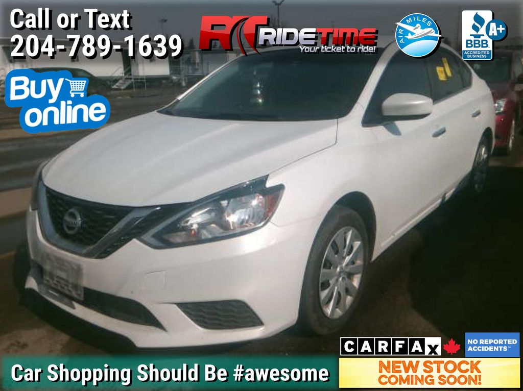 White[Aspen White Pearl] 2018 Nissan Sentra SV - AUTO, Bluetooth, Heated Seats, Backup Camera