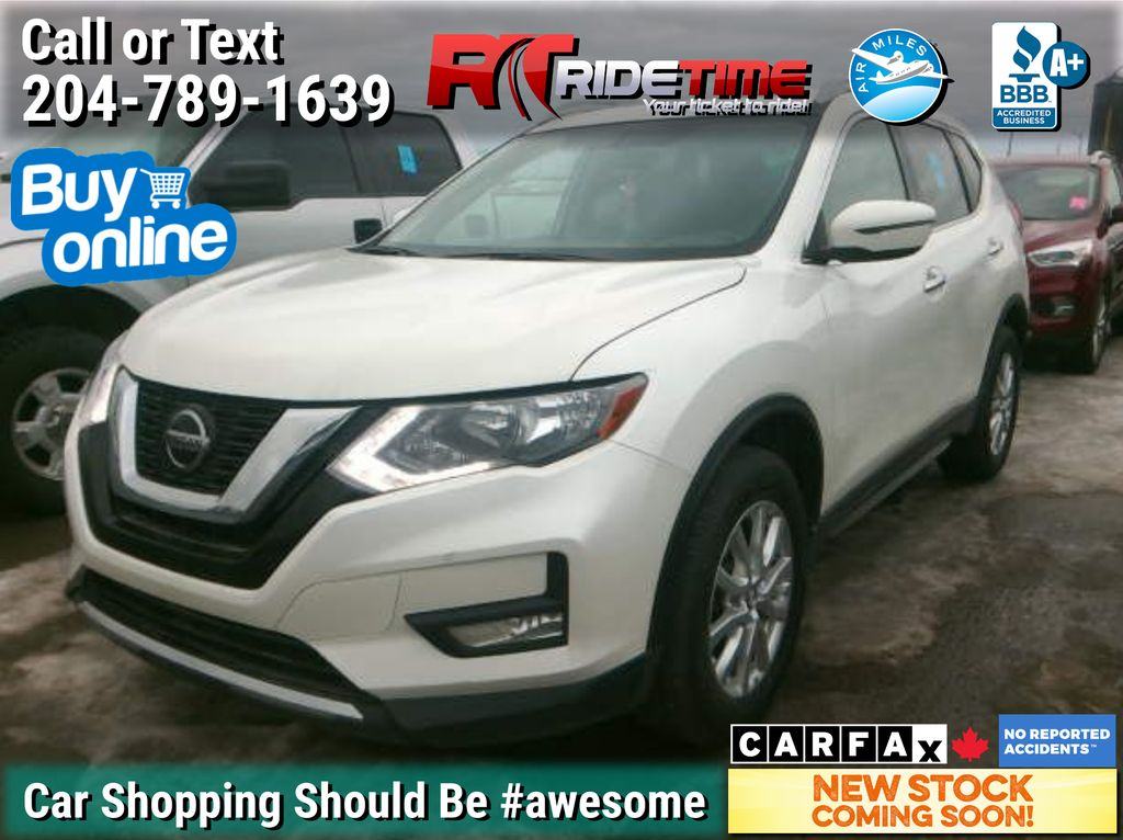 White[Pearl White] 2018 Nissan Rogue SV AWD - Panoramic Roof, Heated Seats, Bluetooth