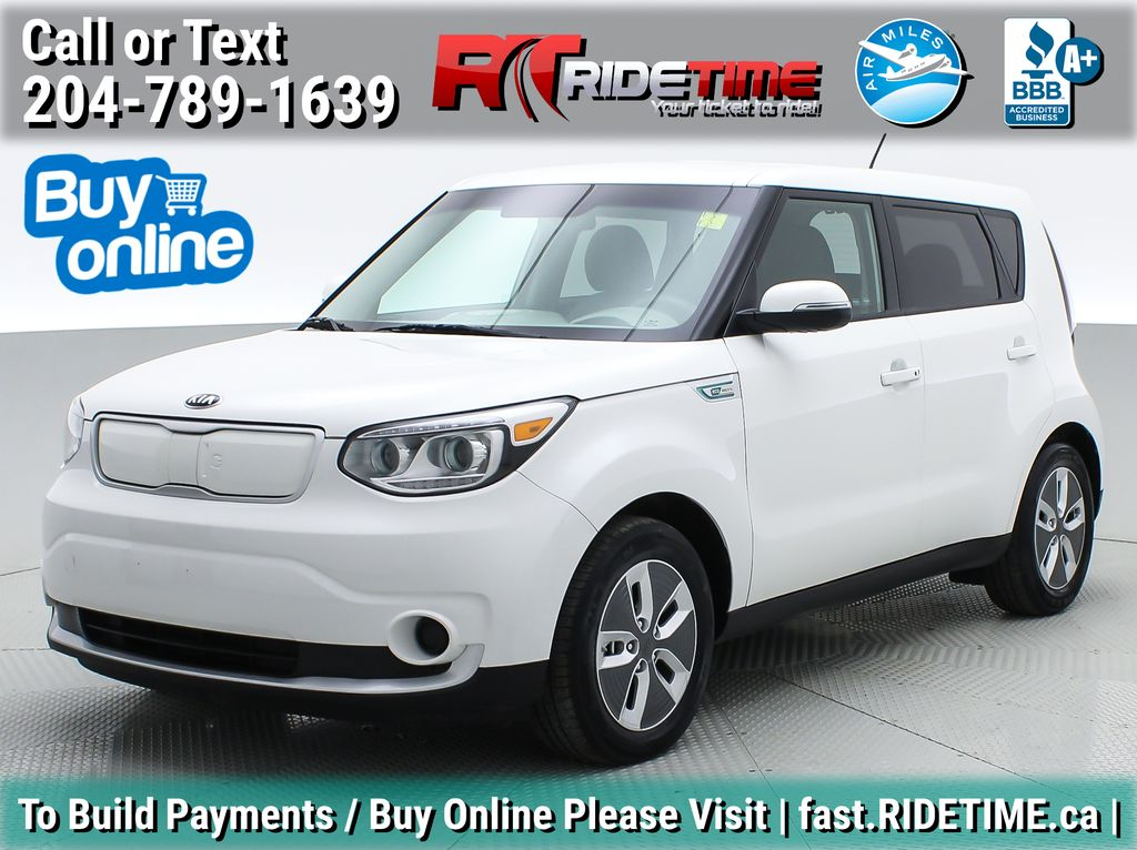 White[Pearl White/Sky Blue Two-Tone] 2017 Kia Soul EV (Electric Vehicle) - NAV, Backup Cam, Bluetooth, SiriusXM