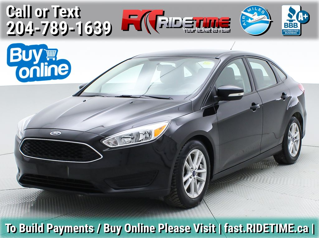 Black[Shadow Black] 2017 Ford Focus SE Sedan - Automatic, Heated Seats, Backup Camera