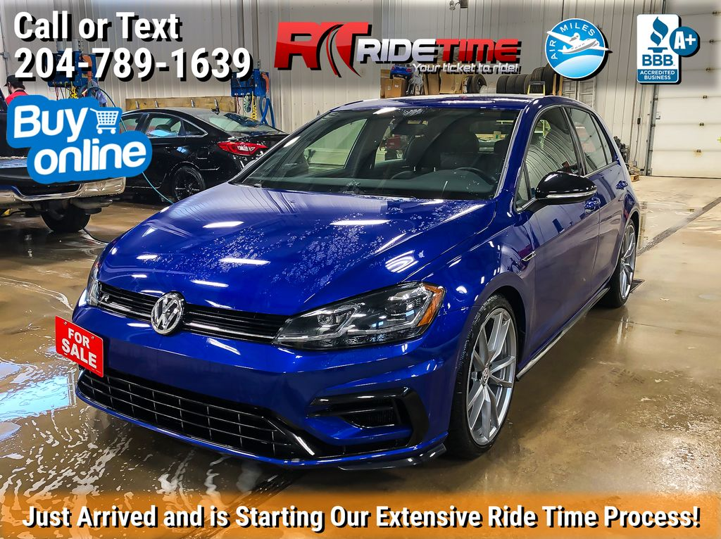 Blue[Lapiz Blue Metallic] 2019 Volkswagen Golf R 2.0 TSI 4Motion - Automatic, Leather, Navigation