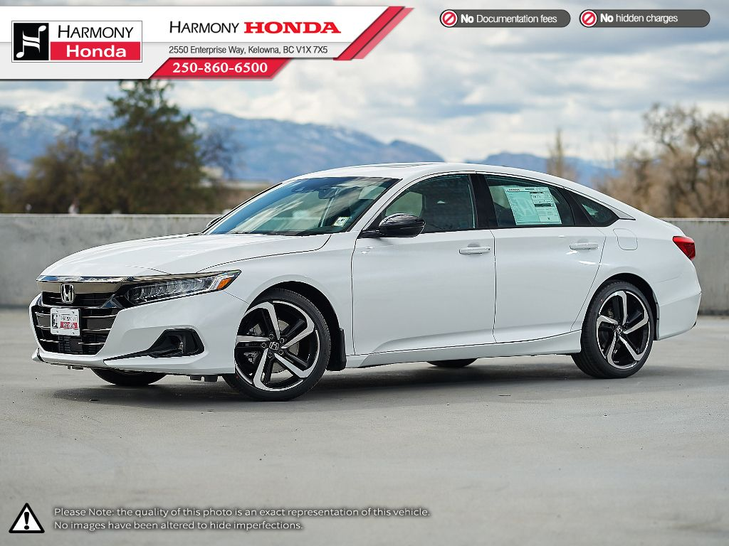 WHITE NH-883P 2021 Honda Accord Sedan