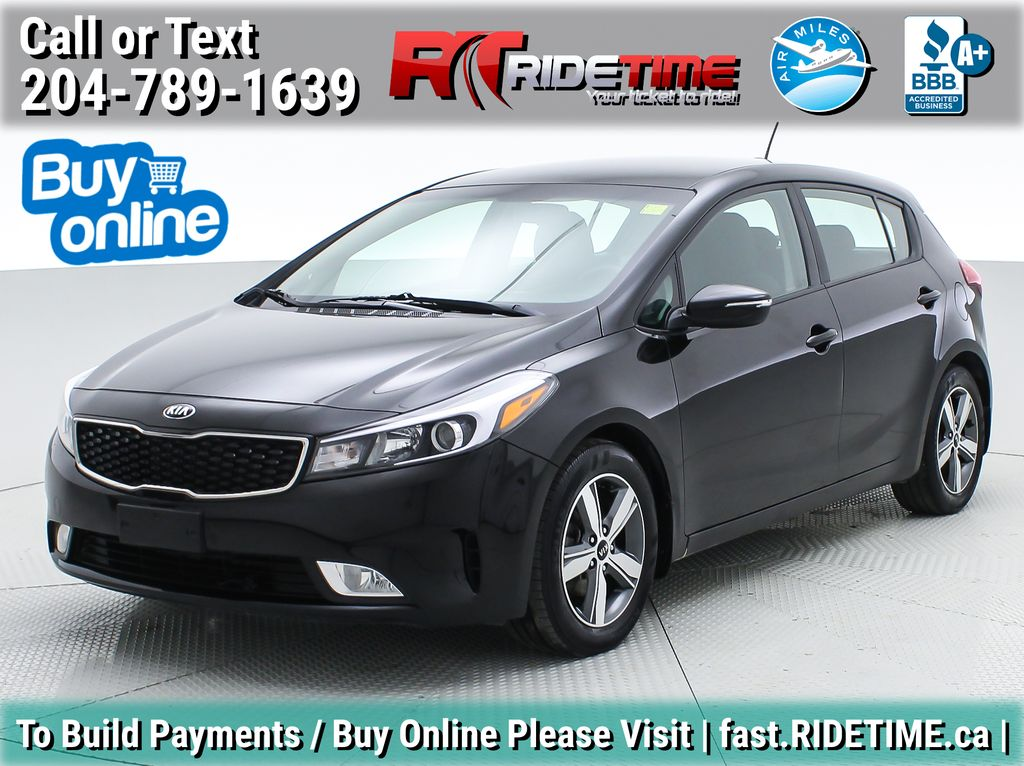 Black[Aurora Black] 2018 Kia Forte5 LX+ - Automatic, Backup Camera, Heated Seats