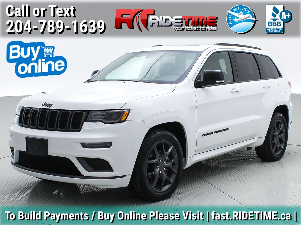 White[Bright White] 2019 Jeep Grand Cherokee Limited X 4WD - Panoramic Roof