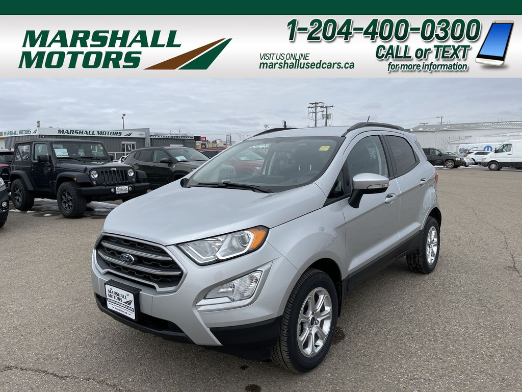 Silver[Moondust Silver Metallic] 2020 Ford EcoSport SE 4WD *Heated Cloth Seats* Backup Cam* Heated Mirrors*