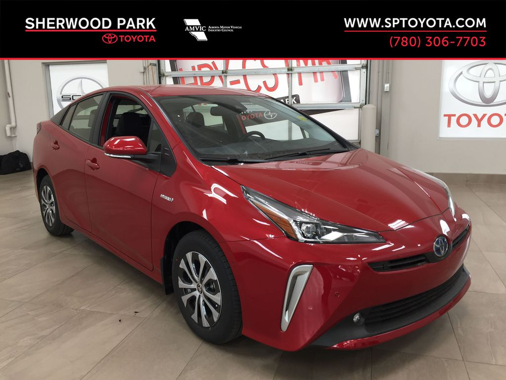 Red[Supersonic Red] 2021 Toyota Prius Technology Advanced AWD-e