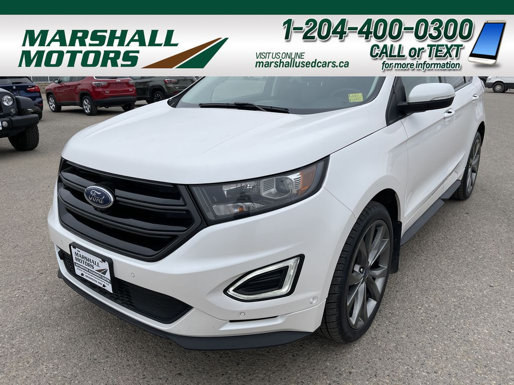 White 2016 Ford Edge 4dr Sport AWD *Self-Parking* *Sunroof* *Heated Seats*