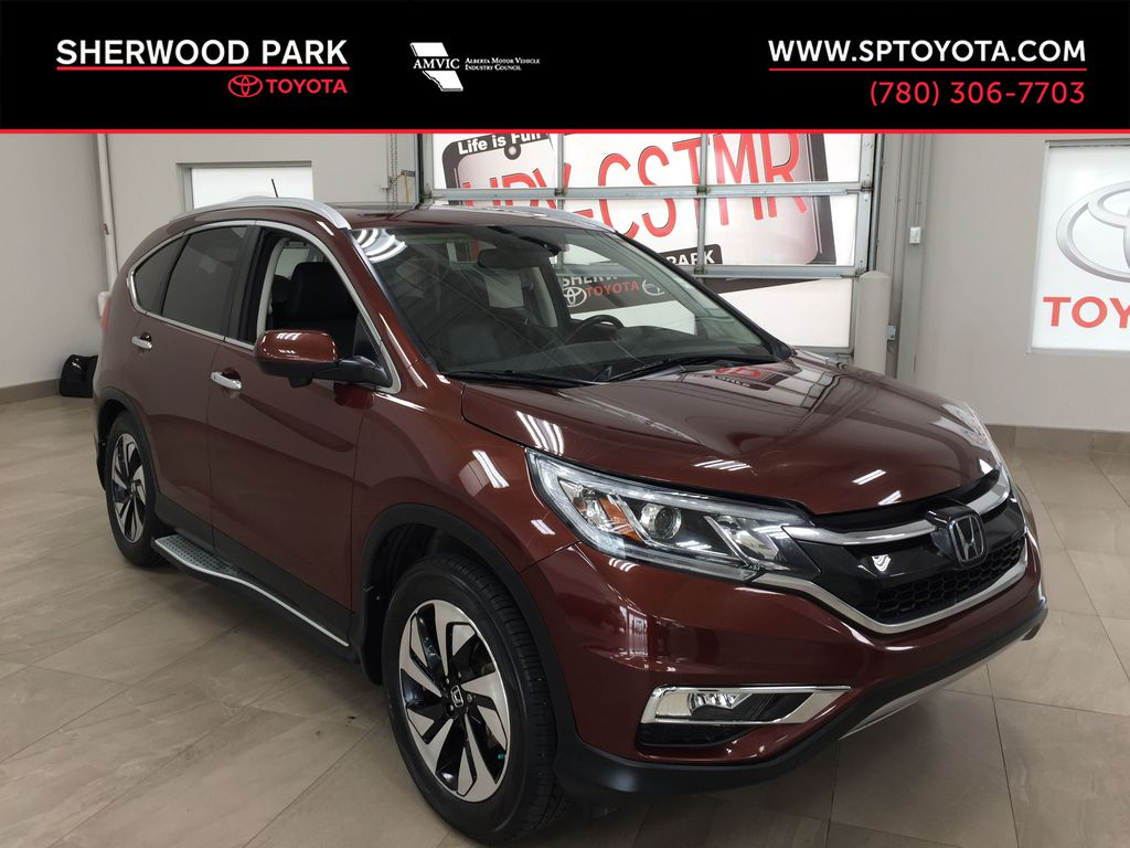 RED 2015 Honda CR-V Touring AWD