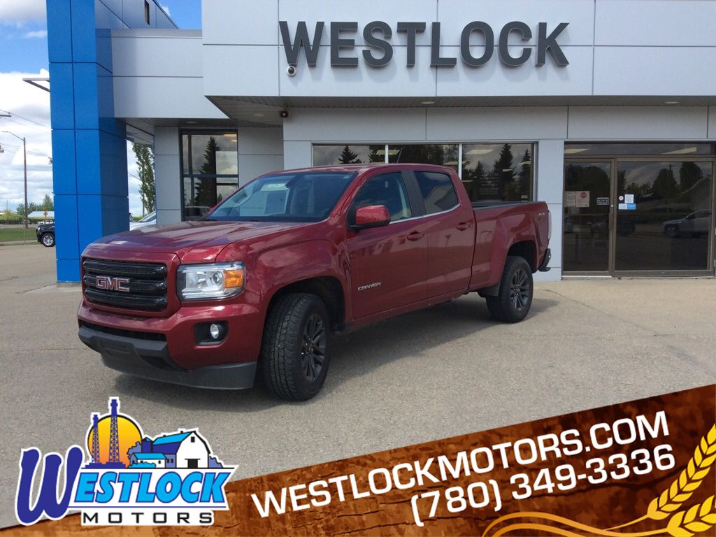 Red 2019 GMC Canyon