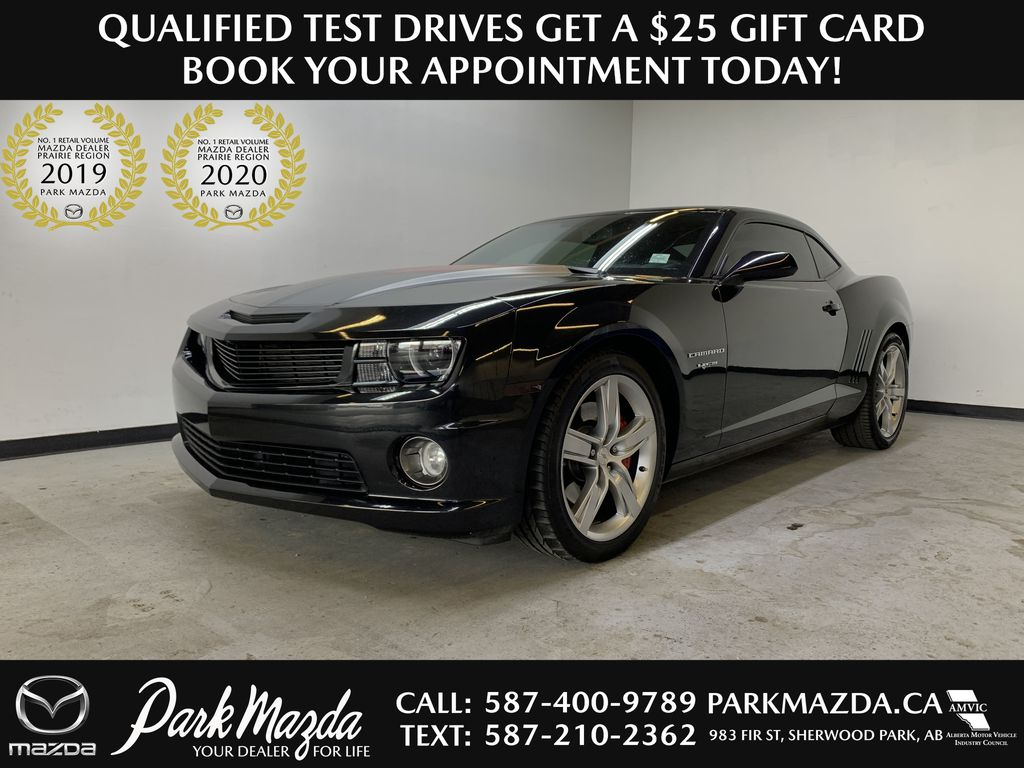 CHARCOAL 2012 Chevrolet Camaro 2SS - 426hp, 6 M/T, Brembo, Bluetooth, Backup Cam, Leather