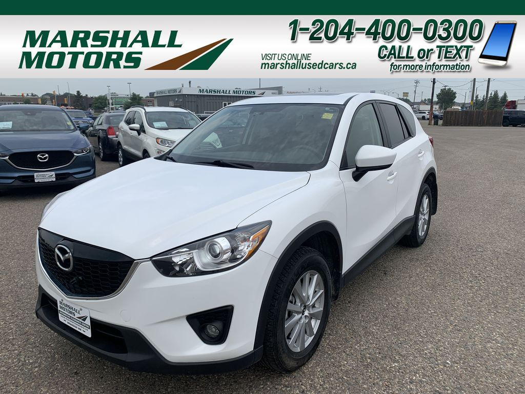 White[Crystal White Pearl] 2014 Mazda CX-5 AWD 4dr Auto GS *Heated Seats* *Sunroof* *A/C*
