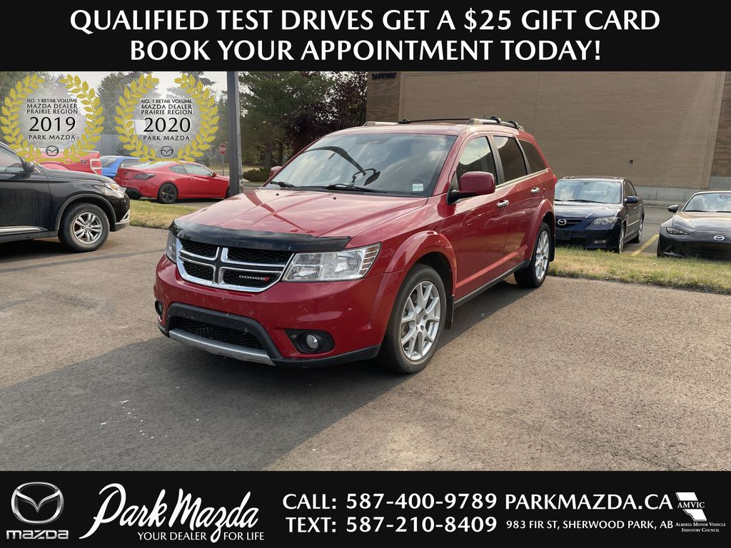 RED 2014 Dodge Journey R/T AWD