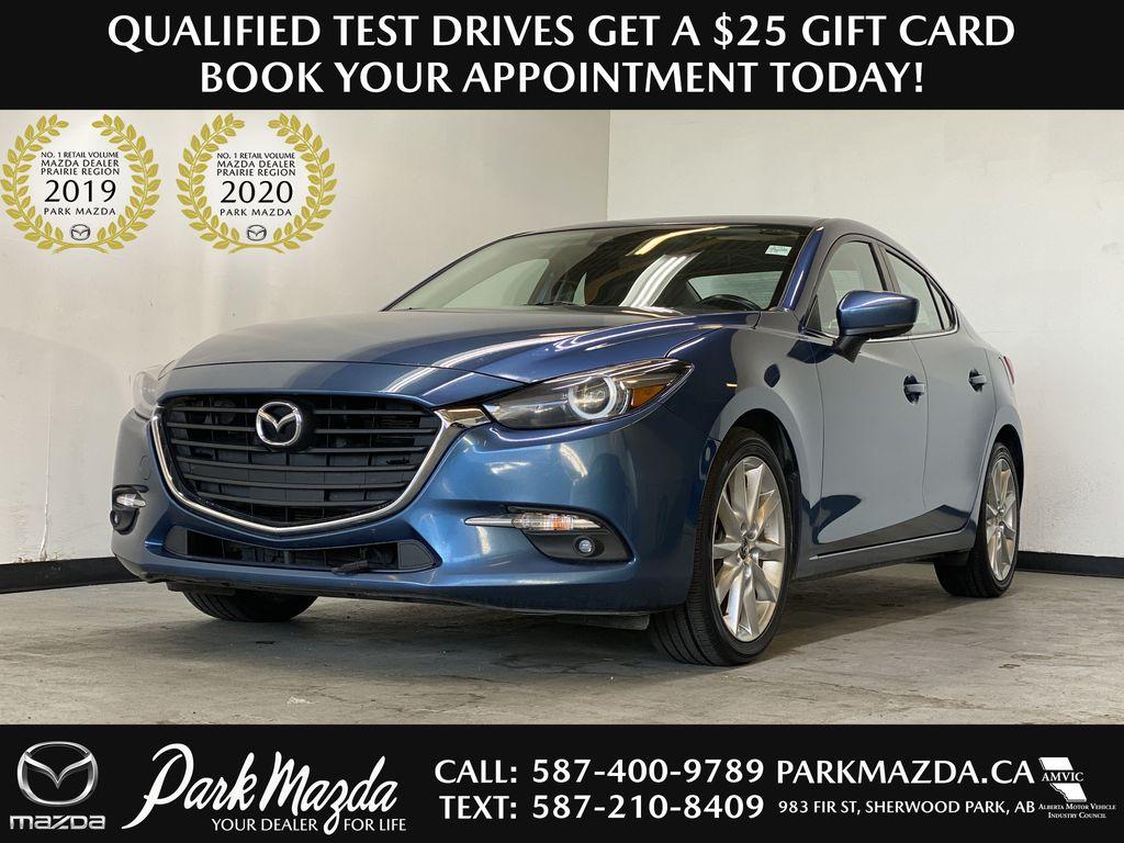 ETERNAL BLUE MICA 2018 Mazda Mazda3 GT - 6-Speed Manual, Backup Camera, Bluetooth