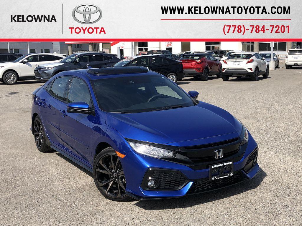 Blue[Aegean Blue Metallic] 2019 Honda Civic Hatchback